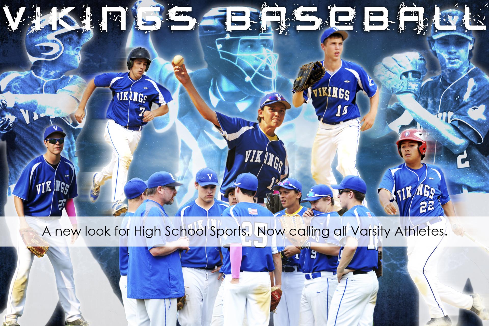 VC baseball poster styled